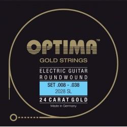 Optima Saiten für E-Gitarre Gold Strings Round Wound Satz E-Gitarrensaiten