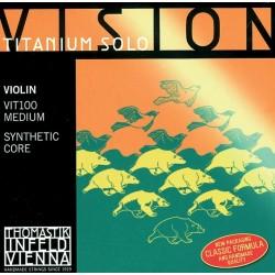 Thomastik Saiten für Violine Vision Titanium Solo Synthetic Core Mittel Violinsaiten