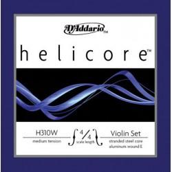 D'Addario Helicore Violinsaiten SATZ 4/4 (E Kugel/Alu) - weich