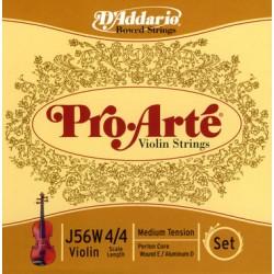 D'Addario Pro Arte Violinsaiten SATZ 4/4 (E Kugel/Alu) - mittel