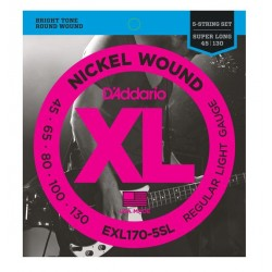 D'Addario EXL170-5SL Saiten für E-Bass, 5-String/Super Long (.045 - .130)