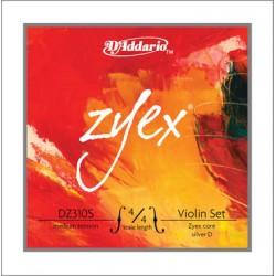 D'Addario Zyex Composite Violinsaiten SATZ 4/4 (E Kugel/D Silber) - mittel