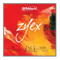 D'Addario Zyex Composite Violinsaite D 4/4 (Alu) - medium