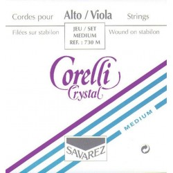 Corelli Crystal Violasaiten SATZ (A Nylon) - mittel