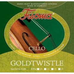 Fisoma Goldtwistle Cellosaite D 1/4 (Alu) - mittel