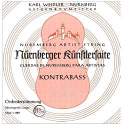 Nürnberger Künstler Kontrabasssaiten SATZ 3/4 (Solo) - mittel
