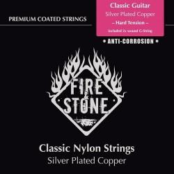 Fire & Stone Saiten für Konzertgitarre 4/4 (G umsponnen) - Stärke: hart (hard tension)