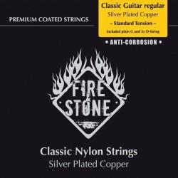 Fire&Stone Konzertgitarrensaiten (+ extra D-Saite) - high Tension