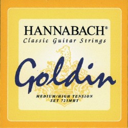 Hannabach 725MHT Konzertgitarrensaiten Goldin 3er Bass-Set