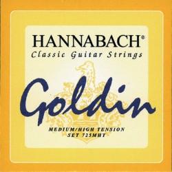 Hannabach 725MHT Konzertgitarrensaiten Goldin 3er Bass-Set