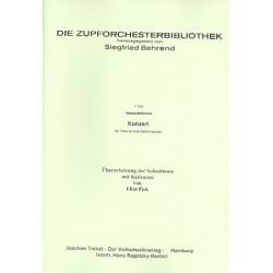 Behrend, Siegfried: Konzert : für Gitarre und Zupforchester Partitur