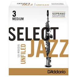 D'ADDARIO SELECT JAZZ UNFILED Sopransaxophon 3M