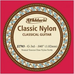 D'Addario EJ27 Classic Konzertgitarrensaite G3 - normal tension