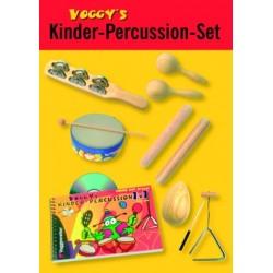 Voggy's Kinder-Percussion-Set mit Lehrbuch für Kinder ab 3 Jahren