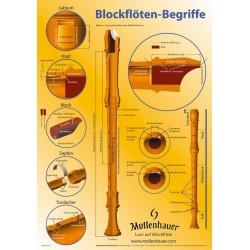 """Poster """"Blockflöten-Begriffe"""" Format: 43x61 cm"""