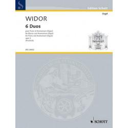 Widor, Charles Marie Jean Albert: 6 Duos : für Klavier und Orgel Partitur und Stimme