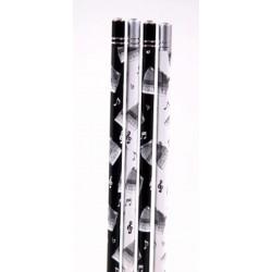Bleistift Akkordeon mit Kristall (1 Stück)