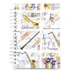 Notizbuch DIN A6 Musikinstrumente