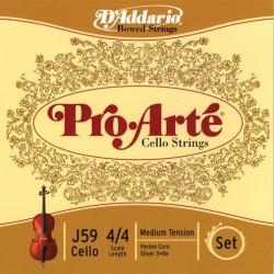 D'Addario Pro Arte Cellosaiten SATZ 4/4 - mittel