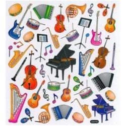 Stickers: Musikinstrumente 1