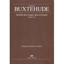 Buxtehude, Dieterich: Befiehl dem Engel dass er komm BuxWV10 : f├╝r 4 Singstimmen (SATB), Streicher und Bc Partitur