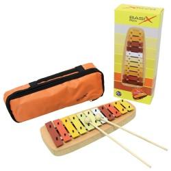 GEWA Basix Bells Glockenspiel mit oranger Tasche
