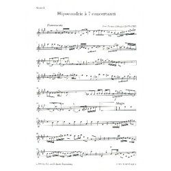 Zelenka, Jan Dismas: Hipocondrie à 7 concertanti : für 2 Oboen, Fagott, 2 Violinen, Viola und Violoncello (Kb) Bläserstimmen