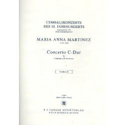 Martinez, Maria Anna: Konzert C-Dur für Cembalo und Orchester Violine 2