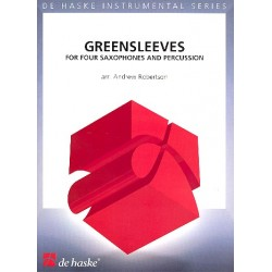 Greensleeves : for 4 saxophones (SATBar) and percussion score and parts