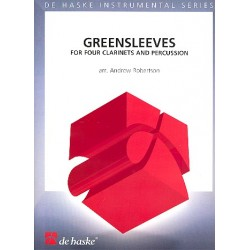 Greensleeves : for 4 clarinets and percussion score and parts