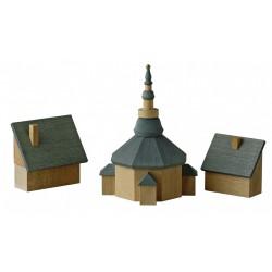 """REICHEL """"Seiffener Kirche mit Häusern"""""""