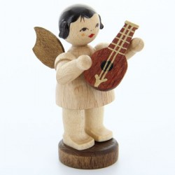 UHLIG Engel stehend mit Mandoline, natur