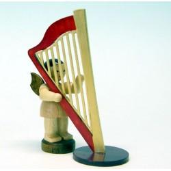UHLIG Engel mit Harfe stehend, natur