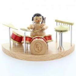 UHLIG Engel sitzend am Schlagzeug, natur