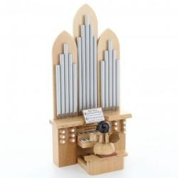 UHLIG Engel an der Orgel, mit Spielwerk, natur