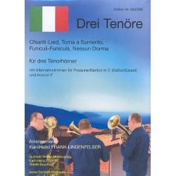 3 Tenöre : für 3 Tenorhörner (Horn in F/Posaune/Bariton in C ad lib) Partitur und Stimmen