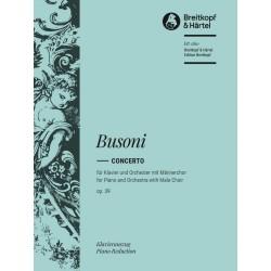 Busoni, Ferruccio: Konzert für Klavier, Männerchor und Orchester op.39 : Klavierauszug