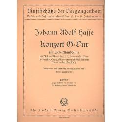 Hasse, Johann Adolph: Konzert G-Dur : f├╝r Mandoline (Violine) solo und Zupforchester (oder Streicher) Partitur