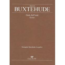 Buxtehude, Dieterich: Gott hilf mir BuxWV35 : für Soli, 2 Violinen, 2 Violen, Violone und Bc, gem Chor ad lib Partitur