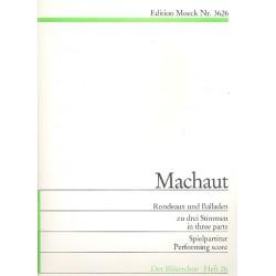 Machaut, Guillaume de: Rondeau und Balladen zu 3 Stimmen (ATT Blockfloeten) Spielpartitur