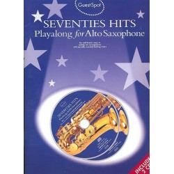 Seventies Hits (+2 CD's) : for alto saxophone Guest Spot Playalong