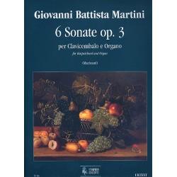 Martini, Giovanni Battista: 6 Sonaten op.3 : für für Cembalo oder Orgel