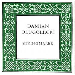 Dlugolecki Violine Darmsaite lackiert A 14 (doppelte Länge)