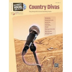 Country Divas (+CD) : for female voice songbook vocal/guitar