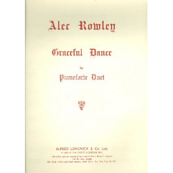 Rowley, Alec: Graceful Dance : for piano 4 hands score