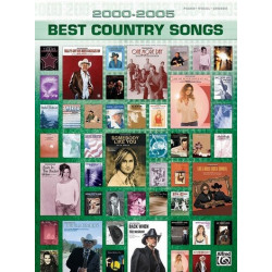 2000 - 2005 Best Country Songs songbook piano/vocal/guitar