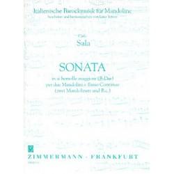 Sala, Carlo: Sonate B-Dur : f├╝r 2 Mandolinen und Bc Partitur und Stimmen