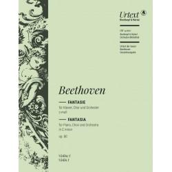 Beethoven, Ludwig van: Fantasie c-Moll op.80 : für Klavier, Soli, Chor und Orchester Violine 1