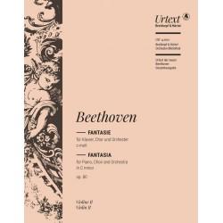 Beethoven, Ludwig van: Fantasie c-Moll op.80 : für Klavier, Soli, Chor und Orchester Violine 2