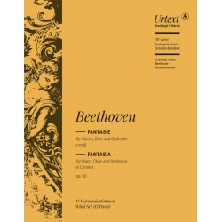 Beethoven, Ludwig van: Fantasie c-Moll op.80 : für Klavier, Soli, Chor und Orchester Harmonie